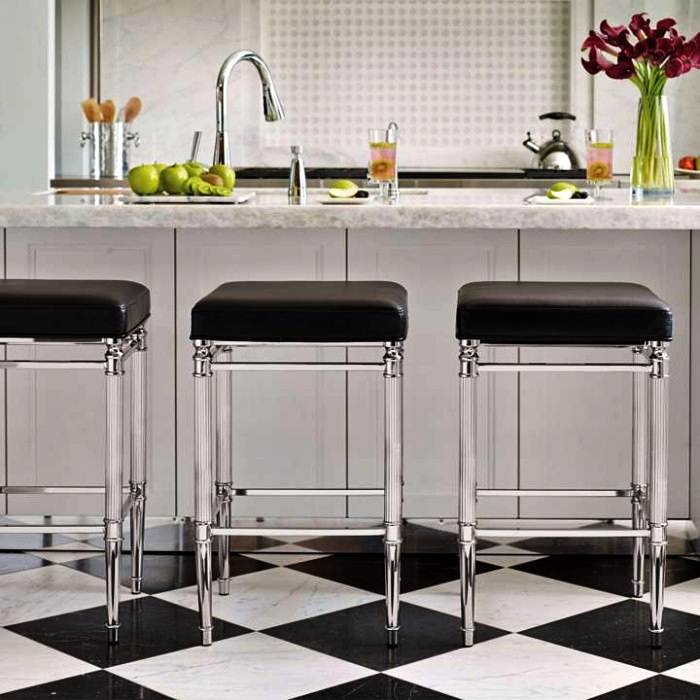Image of: Swivel Kitchen Counter Stools