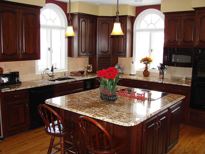 Image of: Cherry Wood Kitchen Cabinets