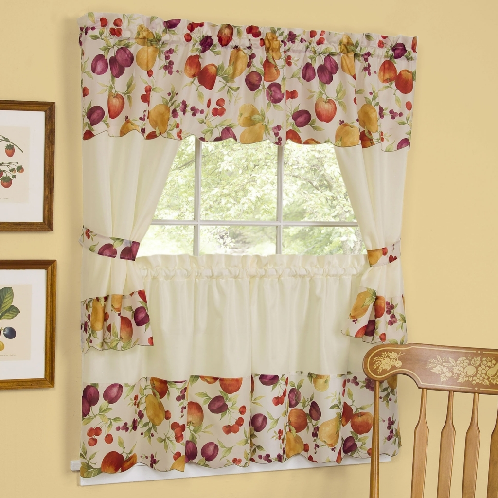 Image of: Country Kitchen Curtains
