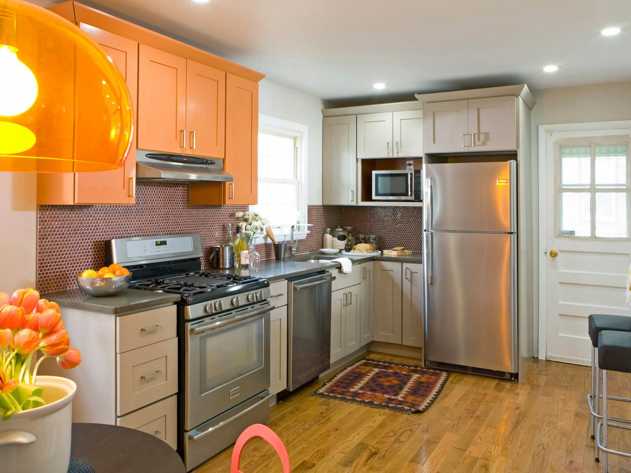 Image of: Pictures of Painted Kitchen Cabinets