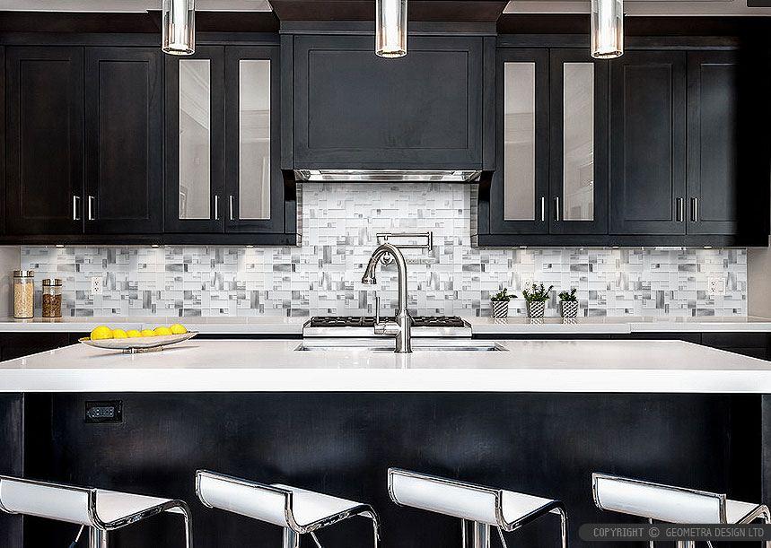 Image of: Modern Kitchen Backsplash