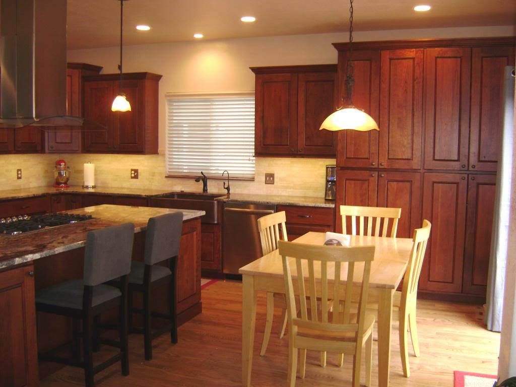Image of: Cherry Cabinets Kitchen