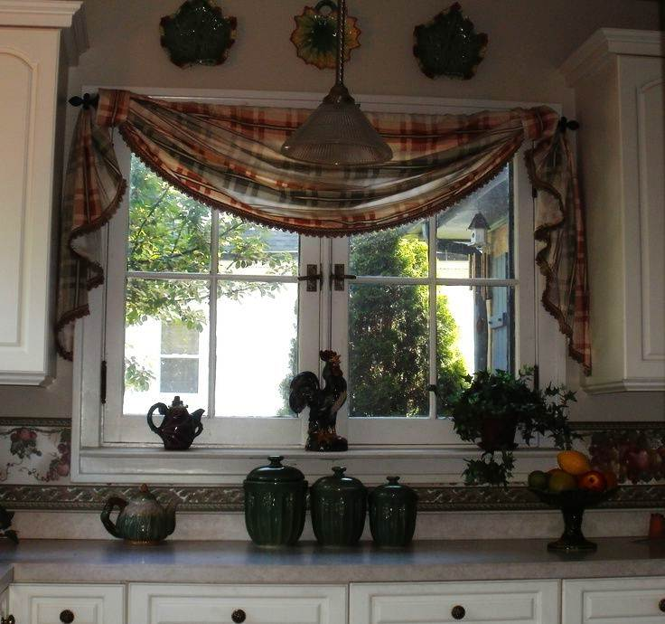 Image of: Valances for Kitchens