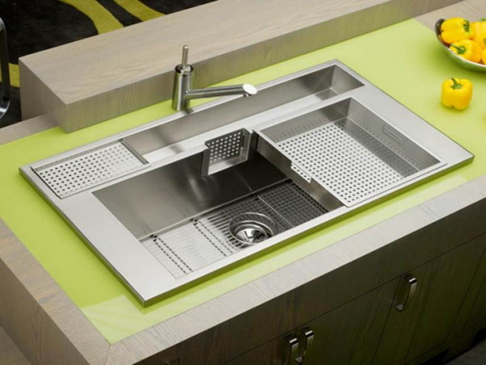 Image of: Stainless Steel Kitchen Sinks