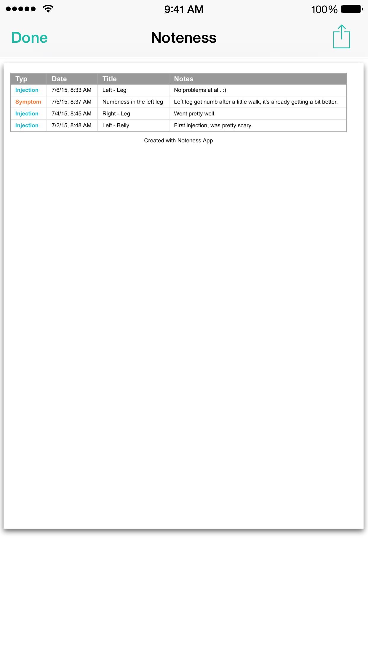 Noteness Screenshot