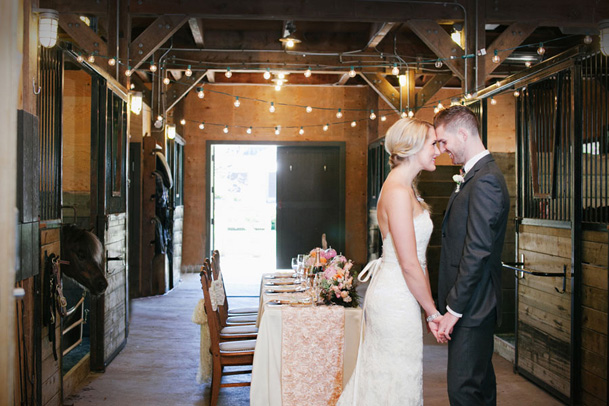 Brix Emerald Wedding in Vancouver - pink rustic wedding in a stable 16