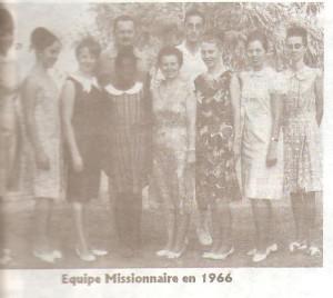 Equipe Missionnaire en 1966