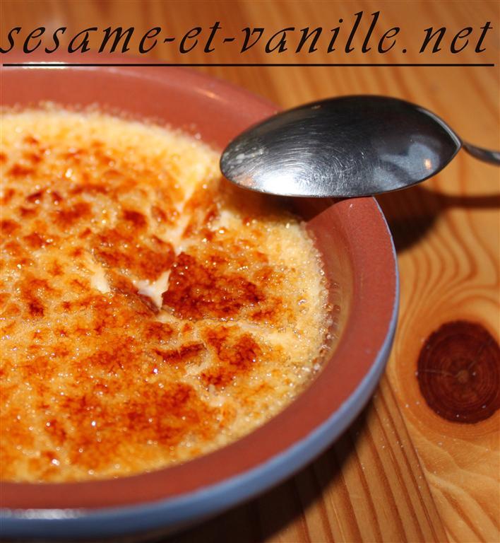 Crème brûlée à la noix de coco