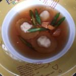 龙虾清汤配龙虾饺