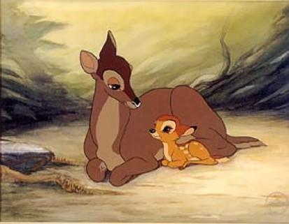 Bambi and mother Bambi 1942 animatedfilmreviews.blogspot.com