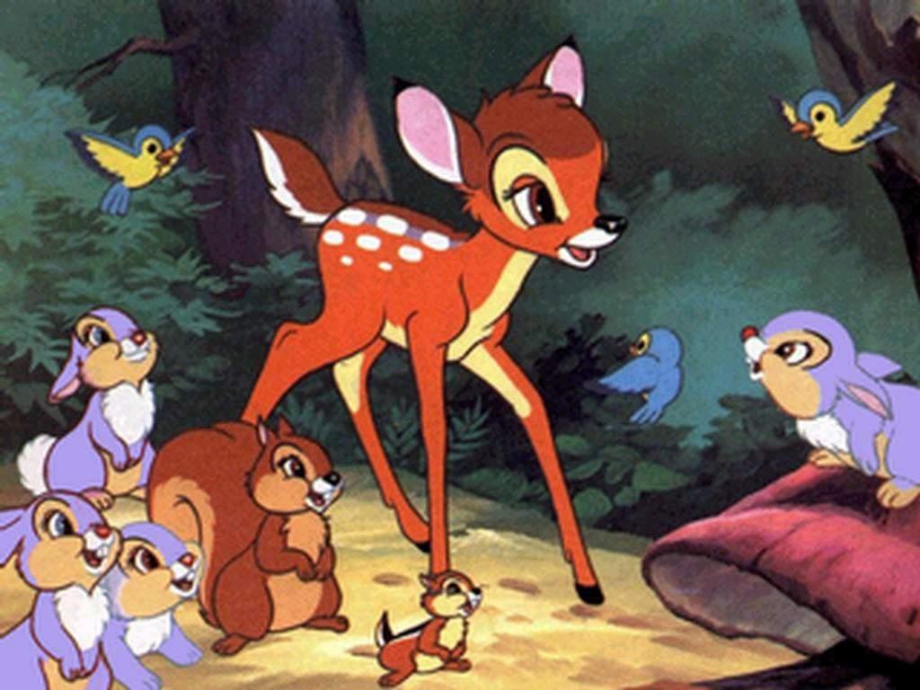Bambi in the forest Bambi 1942 animatedfilmreviews.blogspot.com