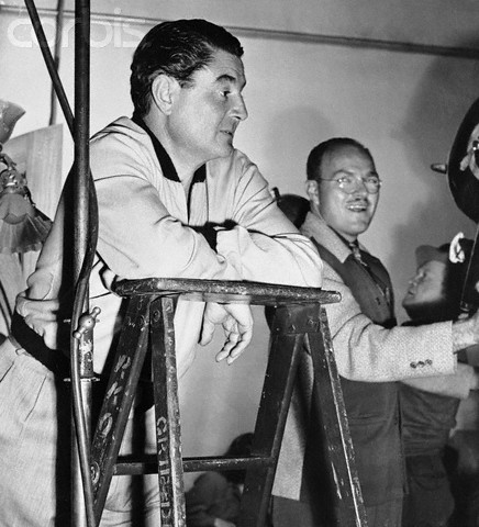 Portrait of Thomas Leo McCarey on Studio Set