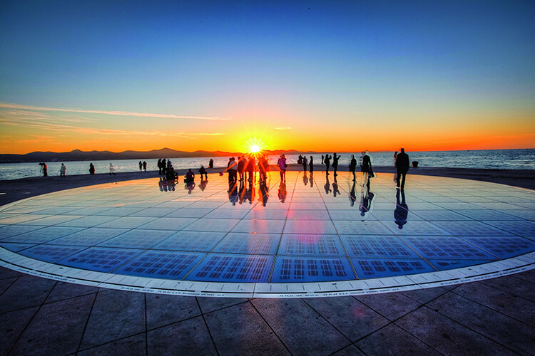 Sun salutation sunset in Zadar | Total Croatia
