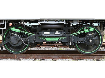 Kawasaki's Environmentally Friendly Weight-saving Innovative New Generation bogie.