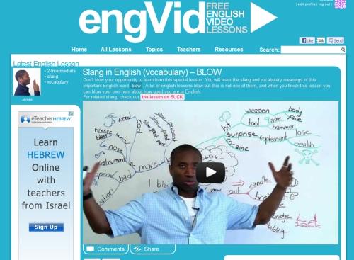 EngVid - ciekawa strona do nauki angielskiego