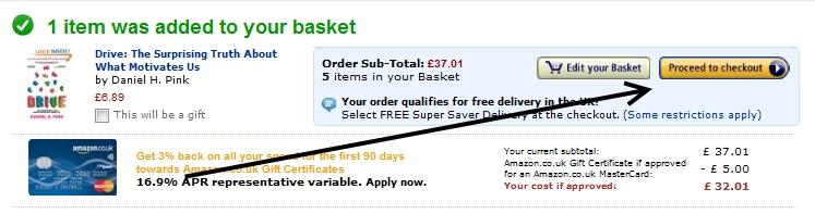 Jak zrobić zakupy na Amazon - zamówienie
