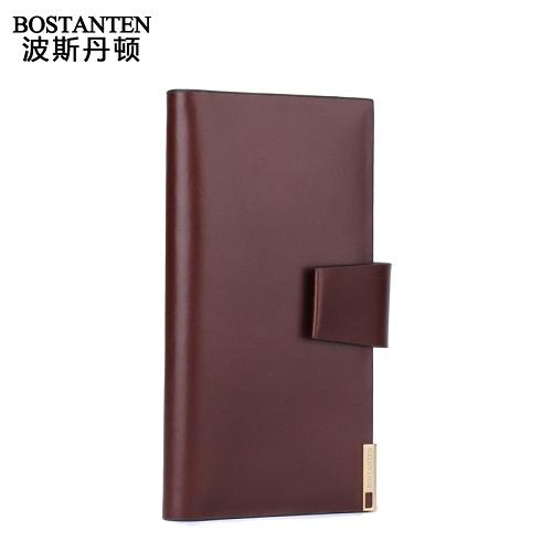 波斯丹顿B20521精致简约反对称卡位牛皮商务长款钱包
