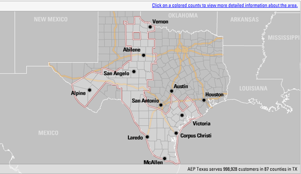 Aep-texas-service-area-outage-map