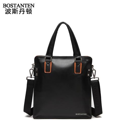 波斯丹顿B10702立体剪裁设计系列商务男士斜挎手提包