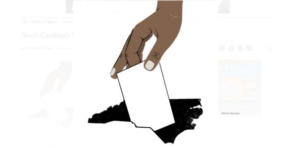 North Carolina voting (graphic: Hanna Barczyk/NYT)
