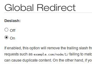 Drupal Global Redirect module