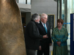 Minister Deenihan discusses the project with Prin. Mary Reaney and Kevin Barton, Image: Philippa Barry 2013