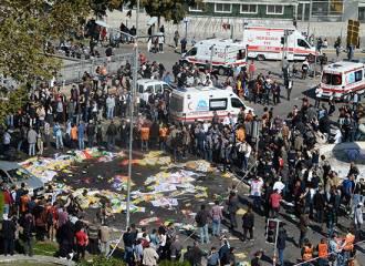 Ankara'daki katliamın görüntüleri