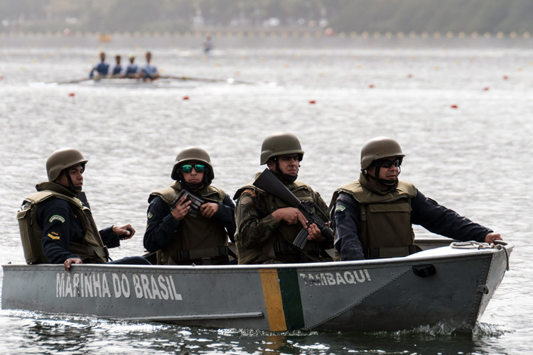photo of security boat in Rio