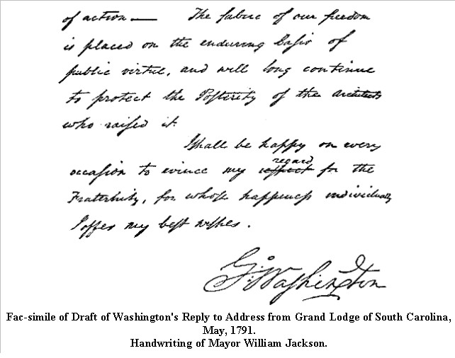 2015-01-03_151756 Washington's Reply to Address from Grand Lodge of South Carolina, May, 1791 pt2