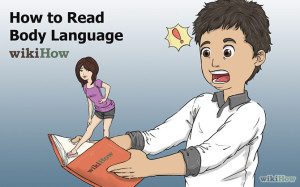 Image showing a man reading body language