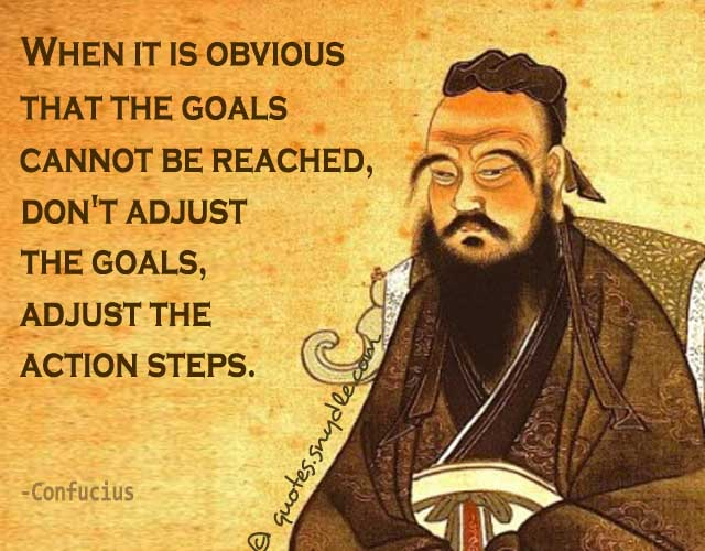 When it is obvious that the goals cannot be reached don t adjust