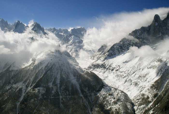 Ледники в Альпах Мер-де-Глас