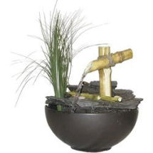 tabletop fountain from bamboo
