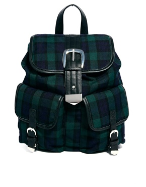 ASOS plaid backpack