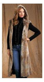 full length faux fur vest