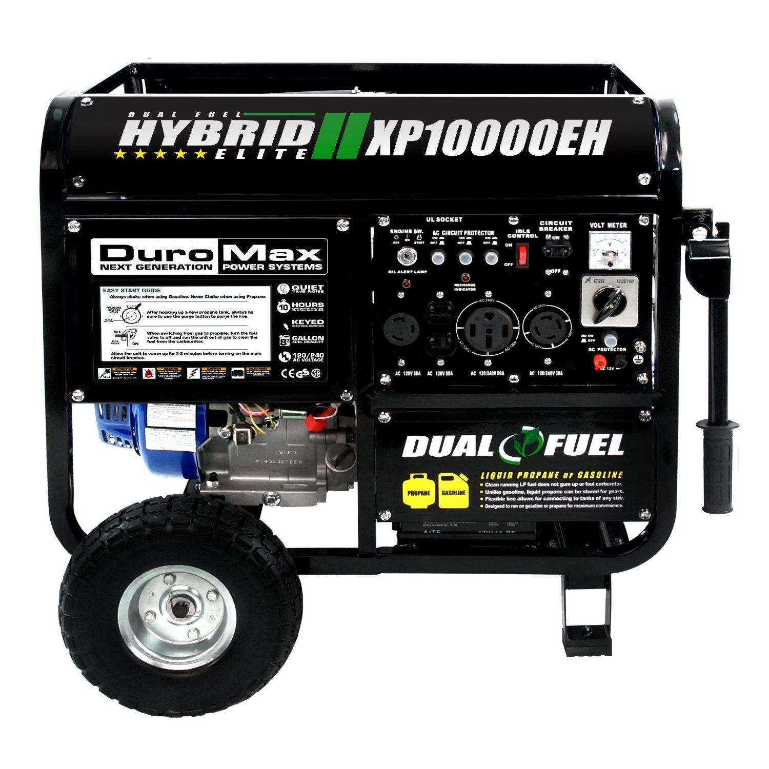 DuroMax Hybrid Dual Fuel Portable Gas Propane Generator Review