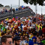 Crowds fill San Francisco's Streets for the 2015 Bay to Breakers Race. (CALIFORNIA BEAT PHOTO)