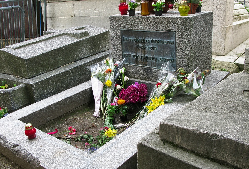 jim morrison of the doors buried at pere lachaise paris