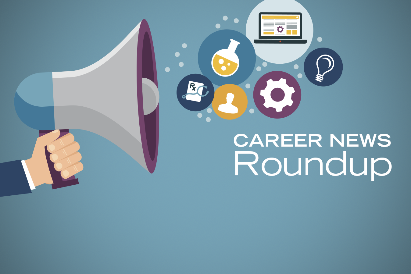 Career News Roundup: March 2016 infographic with icons