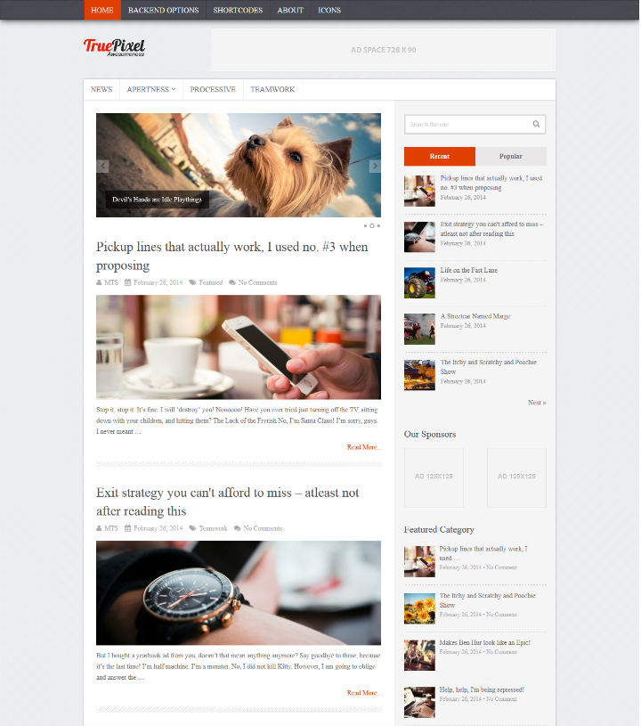 TruePixel Seo Optimized wordpress Themes