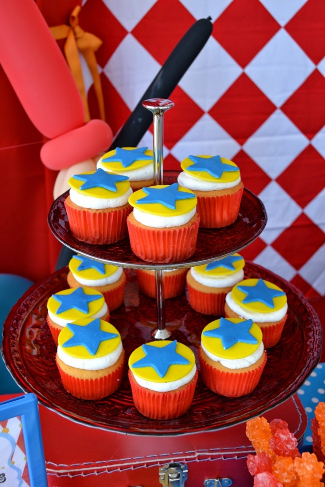 Boys Circus Themed Birthday Party Food Cupcake Ideas