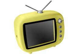 可爱的怀旧电视机