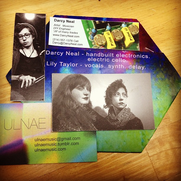 ulnae business card and cd