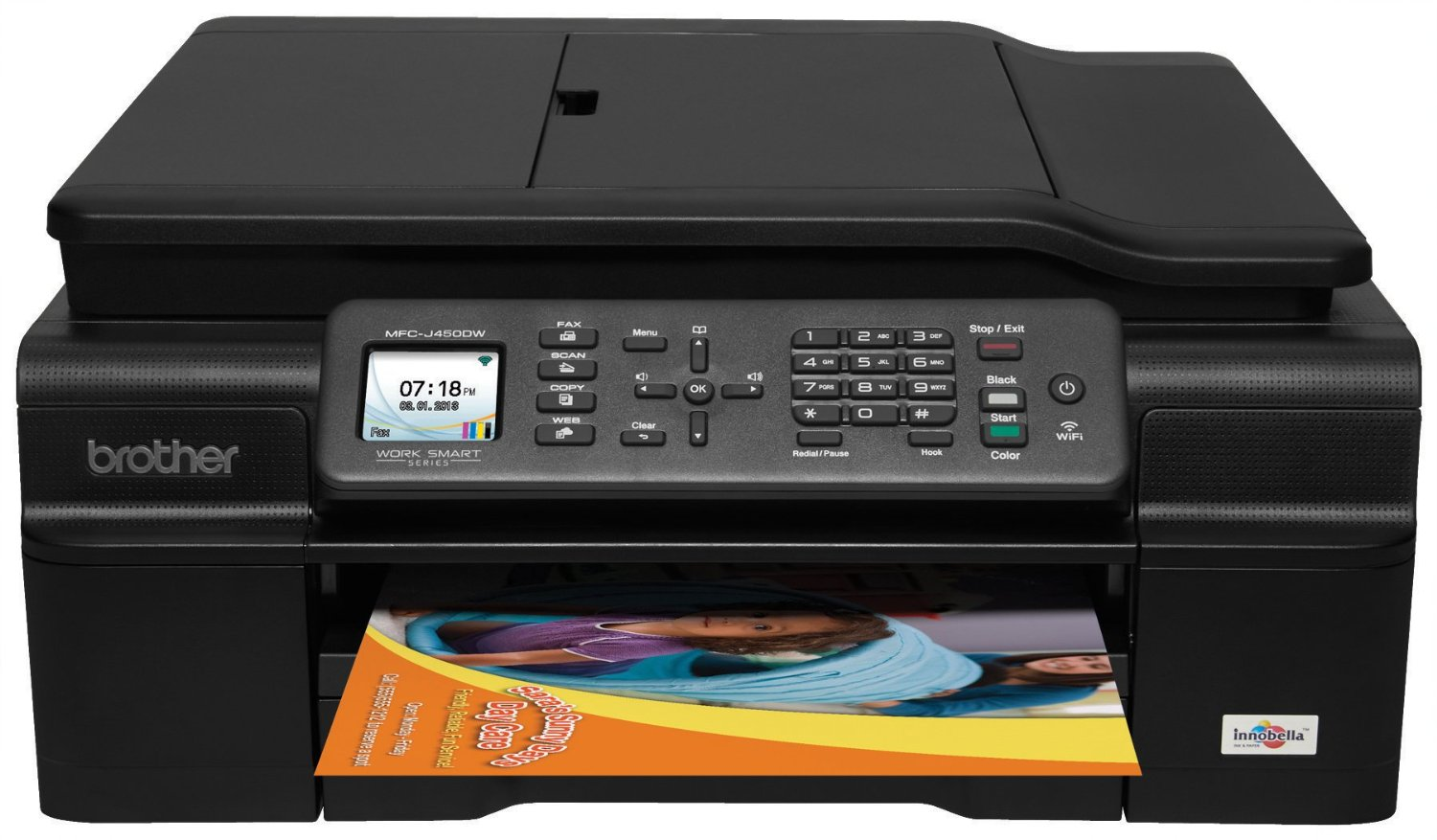 Brother_MFCJ450DW_Wireless_Inkjet Printer