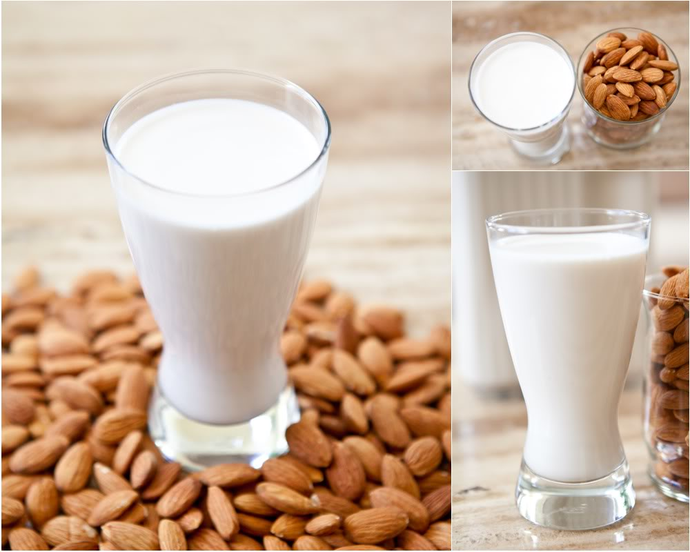 home remedy for skin with almond and milk