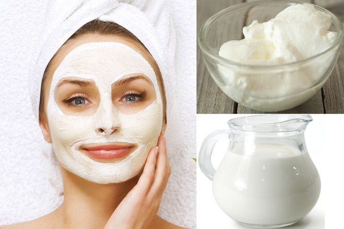 get rid of black spots with butter milk