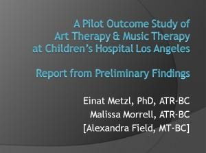 Metzl Morrell Pediatric Outcomes Art Music Therapies