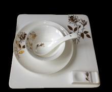 【明洁良品】潮州 四件套 酒店瓷器 镁质瓷创意 陶瓷餐具厂家
