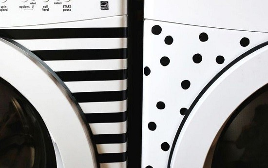 Polka dot washing machine