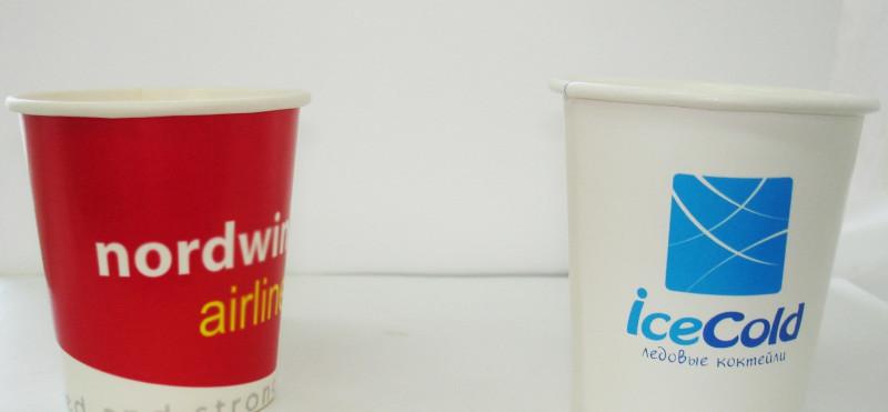 Бумажные стаканчики для коктейлей с логотипом